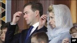 俄羅斯總統梅德韋杰夫(資料圖片)