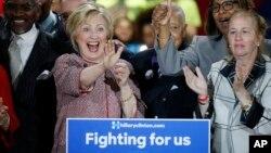 Sobiq Davlat kotibi Hillari Klinton 26-aprel kungi saylovda besh shtatning to'rttasida g'alaba qozondi.