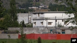 This May 2, 2011 file photo shows Osama bin Laden's compound in Abbottabad, Pakistan shortly after the raid that killed the al-Qaida leader. (AP)