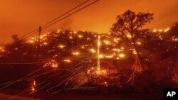 Požar u okrugu Napa u Kaliforniji, 18. avgust 2020. (Foto: AP/Noah Berger)