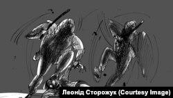"""""""Євромайдан чорнилом"""". Карикатури Леоніда Сторожука. ФОТО"""