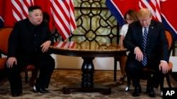 美国总统特朗普和朝鲜领导人金正恩在越南河内举行美朝第二次峰会。(2019年2月28日)