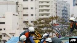 Cuộc diễn tập được thực hiện chưa đầy sáu tháng sau trận động và sóng thần tàn phá tại khu vực Tohoku ở đông bắc Nhật Bản.