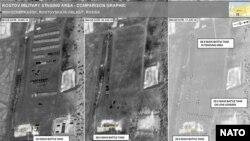 Порівняльні знімки російської військової бази
