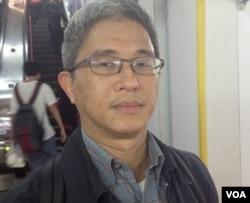 台灣中央研究院副研究員徐斯儉博士(美國之音燕青拍攝)