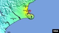 El temblor se produjo cuando ya es viernes 23 de diciembre de 2011 en Nueva Zelanda y el epicentro se ubicó a 26 kilómetros al norte de Christchurch, a 4 kilómetros de profundidad.