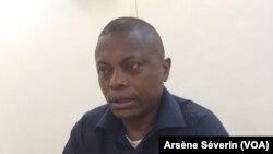 Roch Euloge Nzobo à Brazzaville, le 12 juin 2018.(VOA/Arsène Séverin)