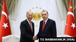 Potpredsednik SAD Džo Bajden i turski presdednik Erdogan, Ankara