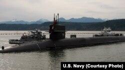 Kapal selamSSBN kelas Ohio yang membawa muatan rudal nuklir Trident II, merupakan keunggulan militer terpenting AS (foto: dok).