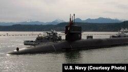 Американская подлодка USS Alabama (SSBN 731), вооруженная баллистическими ракетами. 3 апреля 2013 г.