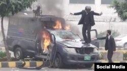 بدھ کے روز لاہور کے ایک اسپتال پر وکلا کا مبینہ حملہ