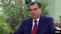 塔吉克斯坦總統拉赫蒙(資料照片)