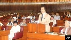 وزیراعظم گیلانی مشترکہ اجلاس سے خطاب کررہے ہیں