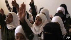 11일 예멘 사나의 여학생들. (자료 사진)