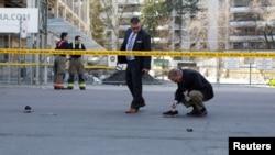 Policija na mjestu događaja nakon što je vozač kombija uletio među pješake