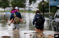 Một số khu vực ở New Orleans bị ngập lụt. Ảnh chụp ngày 21/6/2017.