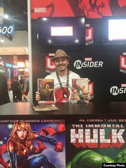Ario Anindito saat berada di San Diego Comic-Con 2019 (dok: Ario Anindito)