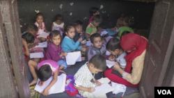 Indian students preparing to return to school