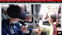 A screen capture from Cuba's website Cubadebate shows Fidel Castro in Havana, greeting supporters on March 30, 2015.