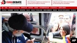 古巴報刊出卡斯特羅握手的照片