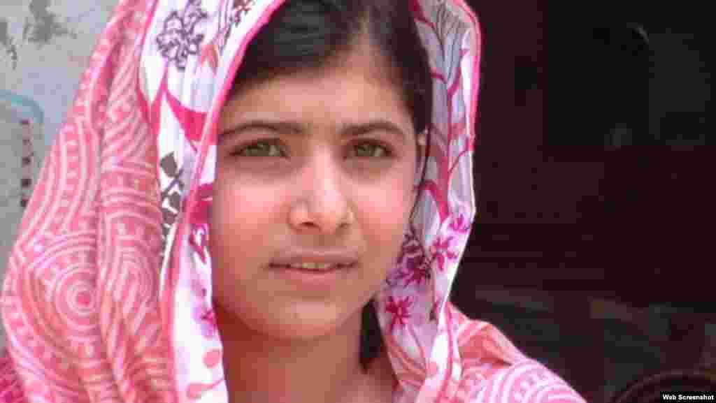 무장단체 탈레반의 총격을 받은 15세 파키스탄 소녀, 말라라 유사프자이