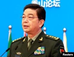 2016年10月11日中國國防部長常萬全在北京的香山論壇上發表講話。