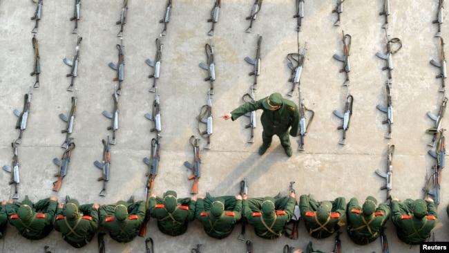 Một buổi huấn luyện của Quân đội Trung Quốc.