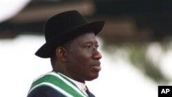 尼日利亞新總統古德勒克.喬納森星期天宣誓就職