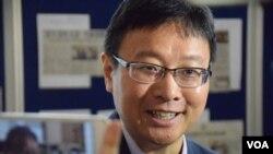 浸會大學政治及國際關係學系副教授陳家洛 (美國之音湯惠芸拍攝)