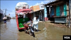 Daerah yang dilanda banjir paling parah di Pakistan adalah dataran rendah di propinsi Sindh yang terletak di kawsan pesisir (foto: dok).