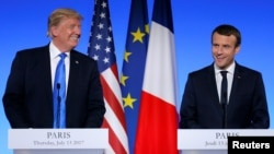 Trump Macron joint conference