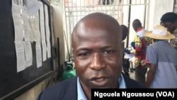 Kevin Maboundou, un opposant en liberté, à Brazzaville, le 11 avril 2018. (VOA/Ngouela Ngoussou)