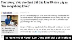 Báo chí trong nước nêu phát biểu của Thủ tướng Nguyễn Xuân Phúc về dự luật đặc khu.