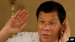 菲律賓總統杜特爾特(資料照片)