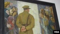 莫斯科古拉格博物館中展出的反映斯大林大清洗的油畫。