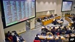 지난 2014년 11월 유엔총회 인권이사회에서 북한의 인권 상황 개선을 위한 결의안 투표를 했다.