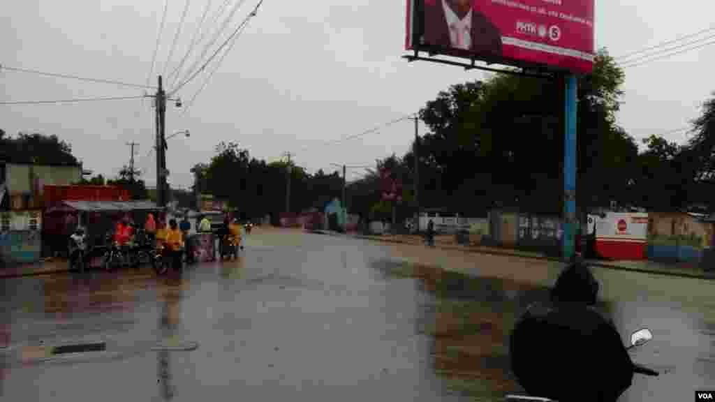 Imágenes de una de las principales carreteras afectadas.