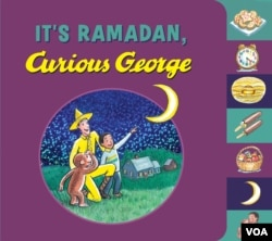 Cover illustration of It's Ramadan, Curious George, by Pakistani-American Muslim writer Hena Khan, for Houghton Mifflin Harcourt.