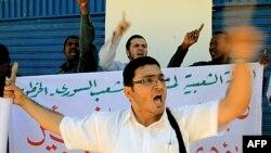 Người Syria và Sudan biểu tình trước Ðại sứ quán Syria ở thủ đô Khartoum, Sudan hôm 2/11/11 để phản đối bạo động tiếp diễn ở Syria