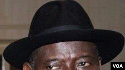 Pejabat Presiden Goodluck Jonathan di Abuja.