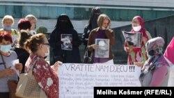 Protest porodica bh. državljana u Siriji, 24. septembar 2020.