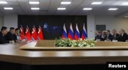 دیدار رهبران روسیه و کره شمالی