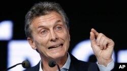 El presidente Mauricio Macri es un liberal de derecha que asumió la presidencia de Argentina el 10 de diciembre pasado.