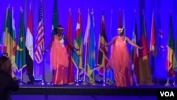 Rwandan dancers perform at the 2015 Africa Day gala, (Mariama Diallo/VOA).