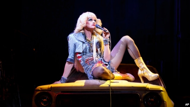 "Neil Patrick Harris in a scene from ""Hedwig and the Angry Inch,"" at the Belasco Theatre in New York. (AP)"