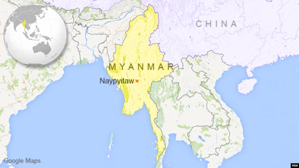 At least 12 dead 50 injured in jade mining landslide in myanmar map of myanmar gumiabroncs Gallery