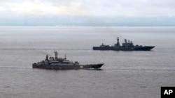 Angkatan Laut Rusia hari Kamis (29/8) mengumumkan bahwa pihaknya mengirim dua kapal perang ke Laut Tengah – dekat pantai Suriah.