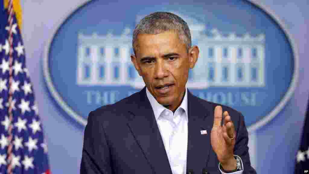 Shugaban Amurka Barack Obama ga 18 Agusta 2014.
