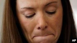 Daniele Hoffman, fue otra víctima de abuso sexual mientras servía en el ejército. Hoffman denunció el delito el año pasado.