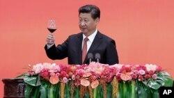 中國國家主席習近平9月4日在紀念抗日70週年發表講話後資料照。